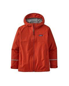 Patagonia Boys' Torrentshell 3L Jacket-Hot Ember-XS