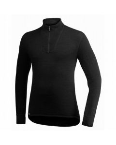 Woolpower Zip Turtleneck 200 -Black-XS